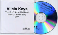 ALICIA KEYS You Don't Know My Name Radio Edit US 1-track promo test CD