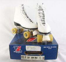 Riedell Red Wing Women's White Roller Skates Model 110 US 9 Medium EUC