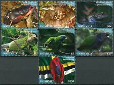 More details for dominica birds on stamps 2020 mnh wildlife parrots crabs snakes frogs flags