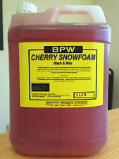BPW Cherry Snow Foam With Wax 5L - for car wash, Valeting Detailing