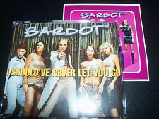 Bardot I Should've Never Let You Go 6 Track Remixes CD Single With Sticker