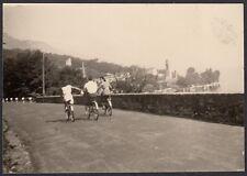 YZ0269 Lago di Como - Gita in bicicletta - Foto d'epoca - 1939 vintage photo