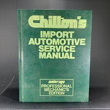Chilton's Import Auto Service Manual - Professional Mechanics Edition 7061 FS