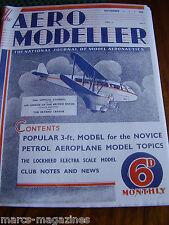 AEROMODELLER 1935 NOVEMBER # 1 1ST ISSUE FACSIMILE MODEL AIRCRAFT