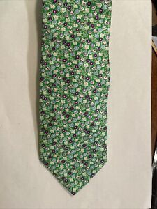 Brooks Brothers 346 Pure Silk Mens Neck Tie Purple Kelly Green Easter