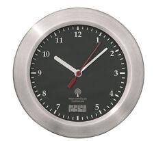 Mebus Funk Wanduhr Saugnäpfe Thermometer Uhr 17 cm Funkuhr Badezimmeruhr Schwarz