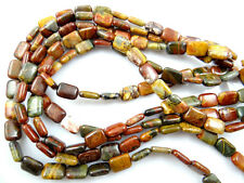 10*14mm Beautiful 1 strand Picasso Jasper Rectangular loose bead 15.5inch