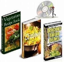 VEGETARIAN, CHINESE, ITALIAN 3 Recipe Cookbooks on CD