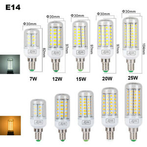 SMD5730 E27 E14 B22 G9 LED Maïs Ampoule 5W 8W 15W 20W 25W Blanc Chaud/Froid 220V