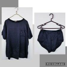 Lunya 100% Washable Silk Pajama Set Xsmall  Small XS / S Black Top & Shorts