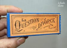 petit jeu de casse tête 1900 - la question du divorce - MD paris