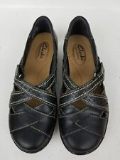 Clarks Bendables Women''s Sandals Black Leather shoes SZ  US 5,5