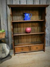 Vintage Old Country Primitive Cupboard 3 Tier Shelf w/ Drawers
