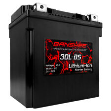 Lithium Ion Battery 12V 30L-BS Replaces Yuasa YIX30L YIX30L-BS Flush Terminals
