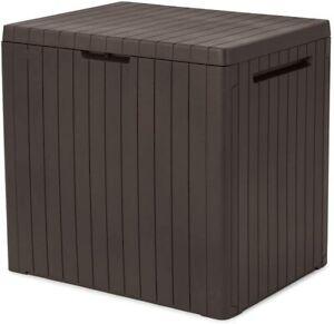 Keter City Outdoor Storage Box Durable, Weather-resistant Indoor Outdoor - Brown