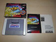 Super Game Boy SNES Complete CIB Super Nintendo Game Adapter Works