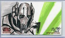 GRIEVOUS Topps STAR WARS CLONE WARS Widevision SKETCH by BRYAN MORTON *50 MADE*