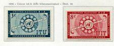 19015) UNITED NATIONS (New York) 1956 MNH** Nuovi** ITU -