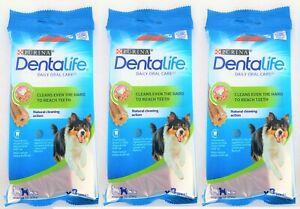 Purina Dentalife (3 x 3 Pack) Medium Dog (15-25kg) Dog Dental Chews Treats