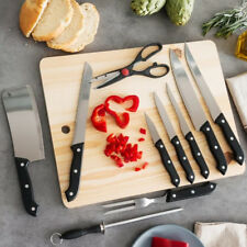 V0200332 Bravissima Kitchen Set di coltelli con Affilatore e Tagliere in legno (