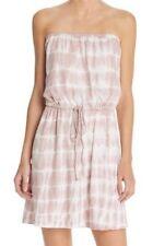 Soft Joie Womens Shirt Dress Size M $178 Cotton Casual Purple Tie-Dye Strapless
