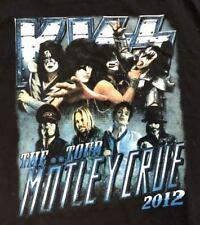 Kiss Motley Crue 2012 The Tour Rock N Roll Music tee t-shirt Size Medium