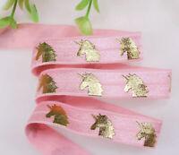 Unicorn fold over Elastic, Unicorn FOE, Fold Over elastic, craft supplies,