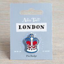 Alice Tait London Pin Badge UK Crown Enamel Brooch