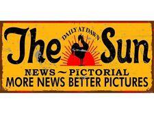 NEW Sun News Pictorial metal tin sign
