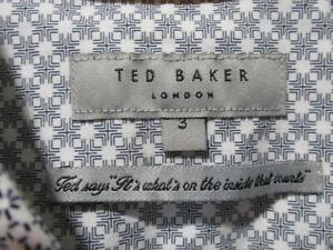 Ted Baker short-sleeve geometric print shirt size 3 EUC!
