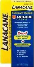 Lanacane Maximum Strength Anti-itch Cream 2in1 Fast Acting Itch Relief 1 oz