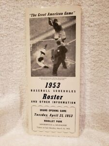 VINTAGE&RARE 1953 Minneapolis Millers Roster/Schedule, VERY NICE!!