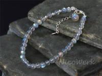 Silberarmband Mondstein Kugel Armband Silber 925 Armkette Damen Schmuck Geschenk