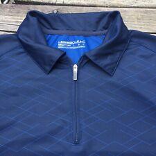 Nike Dri-Fit Men's Golf Shirt Short Sleeve Size L Blue Nice Polyester Fit Dry