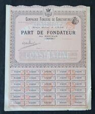 Action COMPAGNIE FONCIERE DE CONSTANTINE LYON titre bond share 2