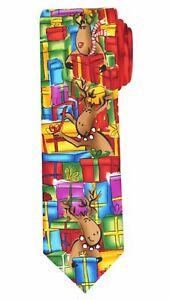 Jerry Garcia NWT Reindeer Presents Christmas Holiday Tie $45