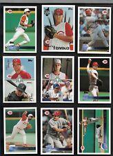 1996 Topps CINCINNATI REDS Complete 17 Card Team Set Larkin Rijo Boone Morris
