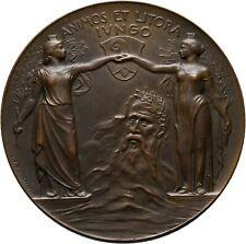 Schweiz Bronzemedaille 1905 Basel Brücke Rhein Medal Münze Coin (AM299)
