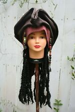 Disney Pirates of the Caribbean Jack Sparrow adult costume hat cosplay hair