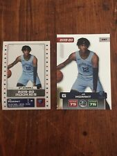 Ja Morant Memphis Grizzlies Lot Rookie Carte Et Sticker