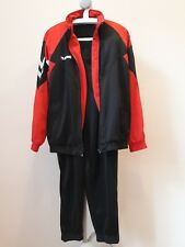 Hummel large L retro black full tracksuit top/jacket and trousers vintage