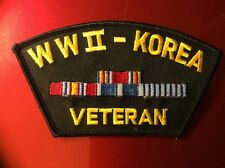 Embroidered Patch WWII Korea War Veteran Us Army Navy Marine Corps Military Gift
