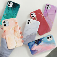 Watercolor Marble Soft Silicone Case Cover For iPhone 12 11 Pro Max XR XS 8 7