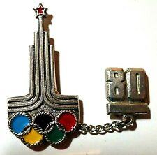 OFFICIAL MOSCOW RUSSIA LOGO 1980 OLYMPIC GAMES PIN BADGE / 2020 TOKYO TRADER
