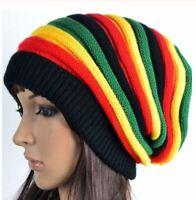 Hip Hop Hat Bob Marley Jamaican Reggae Multicolor Striped Hat for Men and Women