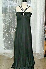 Vintage,  Zeitloses  langes , schwarzes Abendkleid 36/38