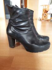 Paul Green 40 Leder Ankle Boot, High Heel, Stiefelette, schwarz Plateau Stiefel