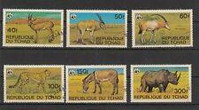 WWF  Tschad Wildtiere  Satz gestempelt