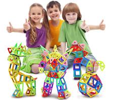 Magnet Tiles 208pc Clear Color 3D Magnetic Building Blocks Tiles Educational Toy