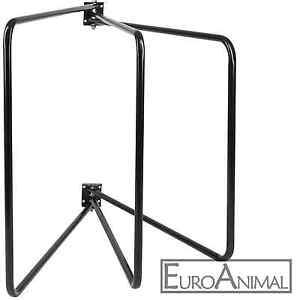 Deckenhalter 3-armig schwarz 3 Pferdedecken Kapazität schwenkbar, 70cm x 95cm